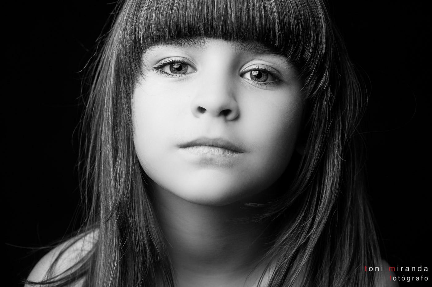 retrato niña en alcoy
