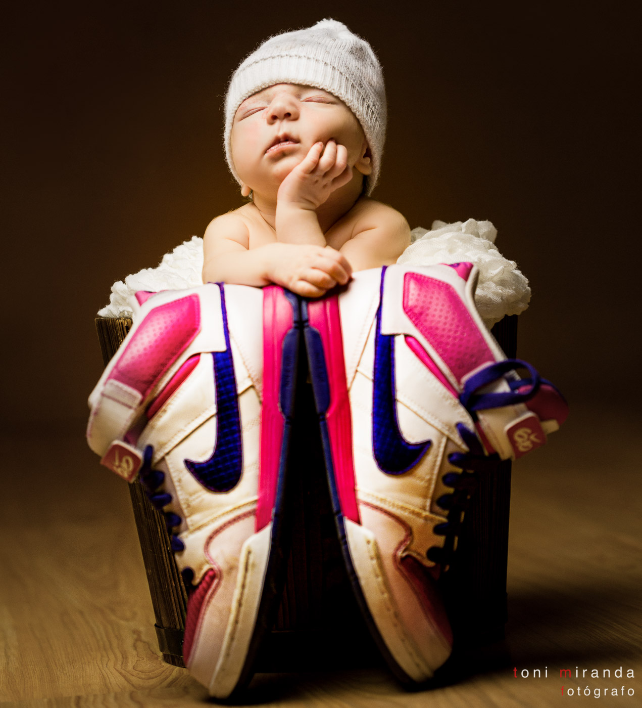 recién nacida en estudio de alcoy