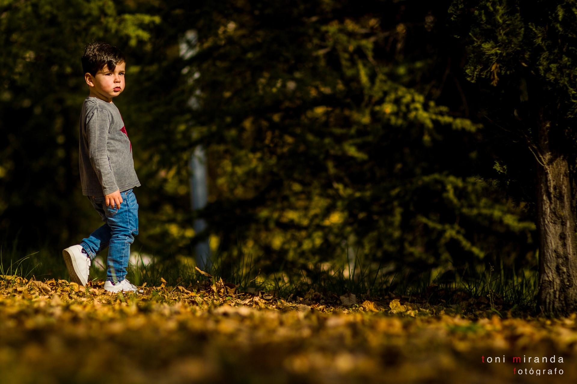 reportaje infantil en exteriores