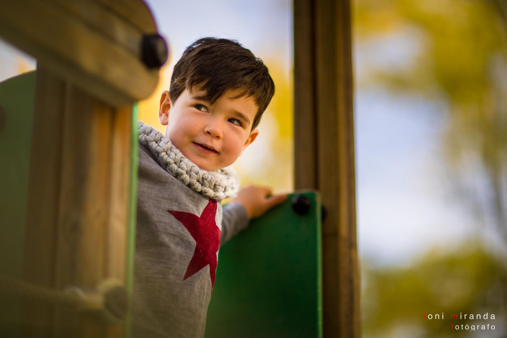 reportaje infantil en parque de alcoy