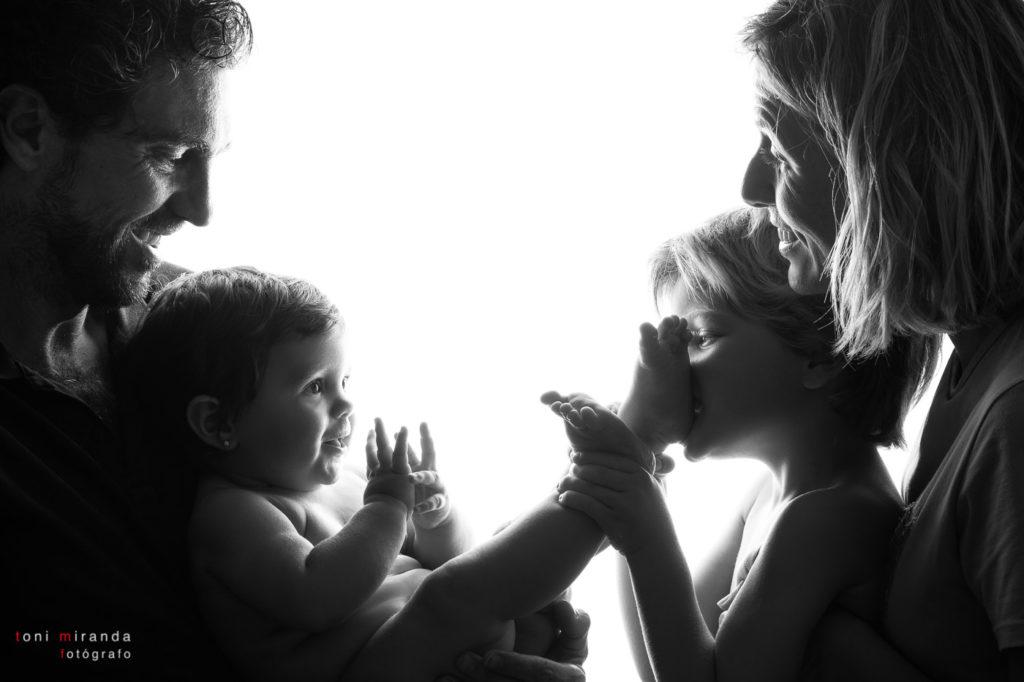 Sesion fotografica en familia