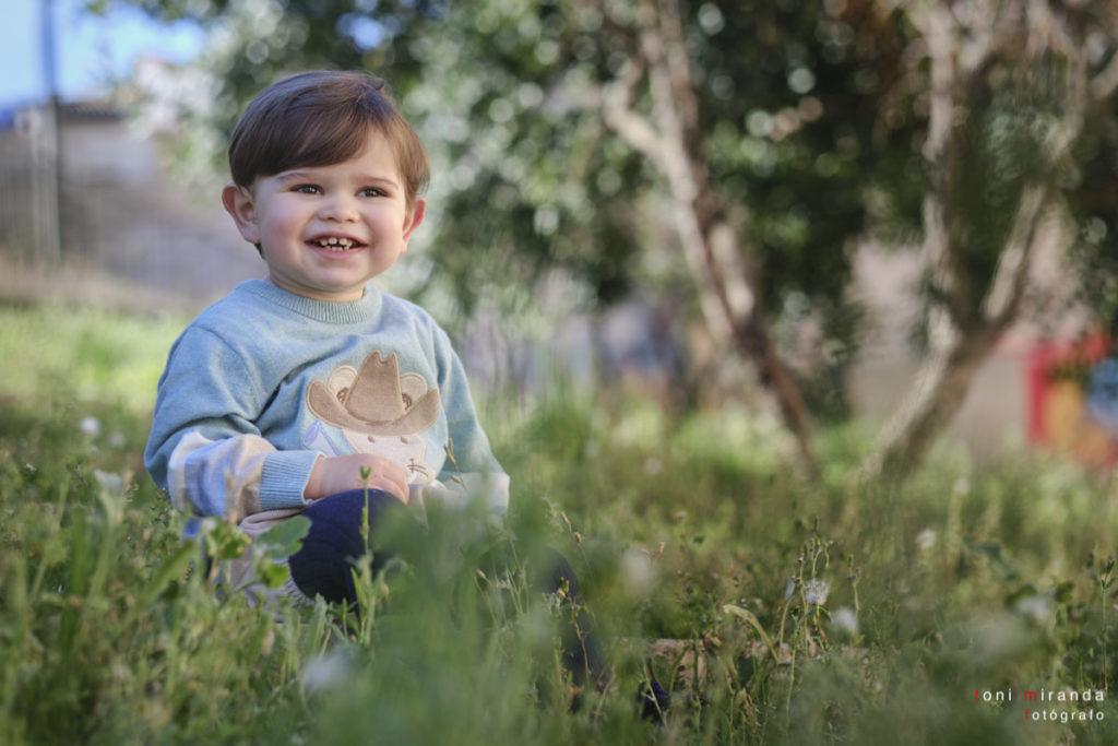 Fotografia en exteriores para reportaje infantil