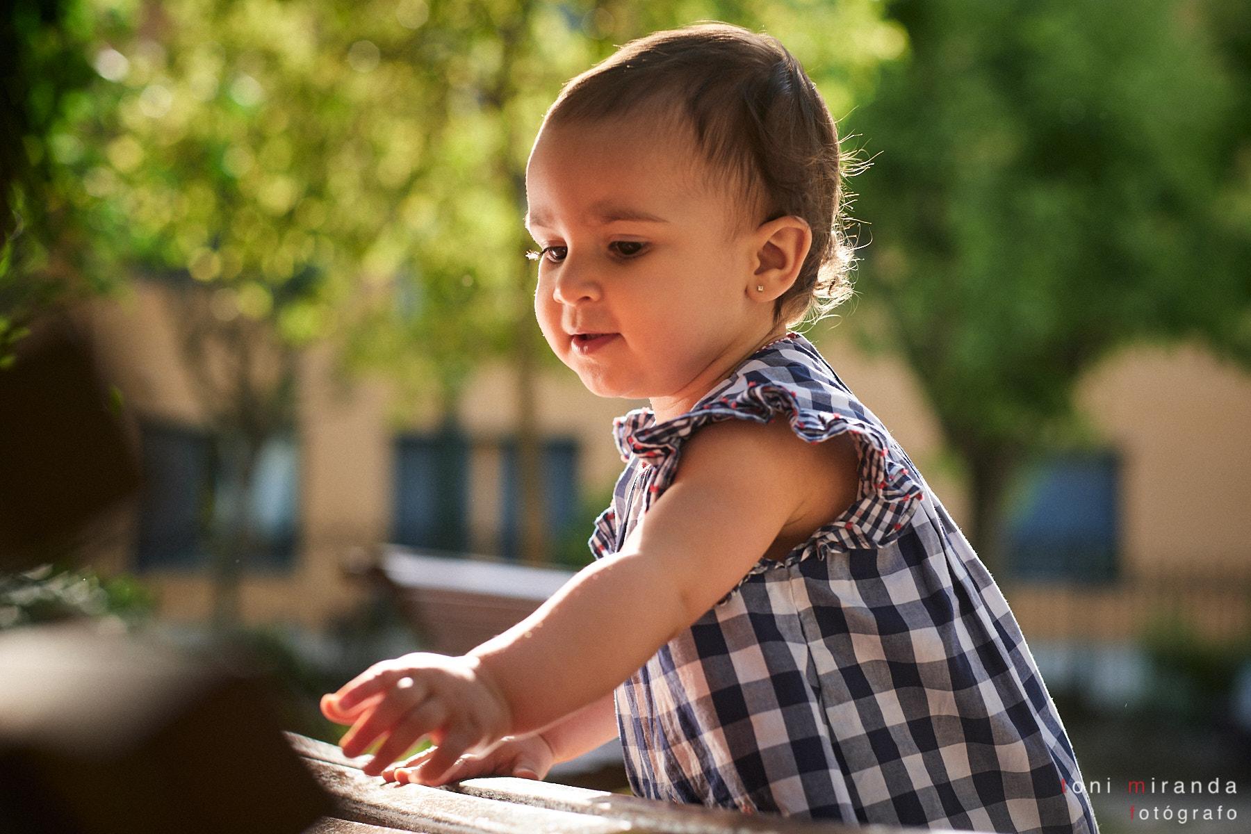 luz bonita en bebe exteriores